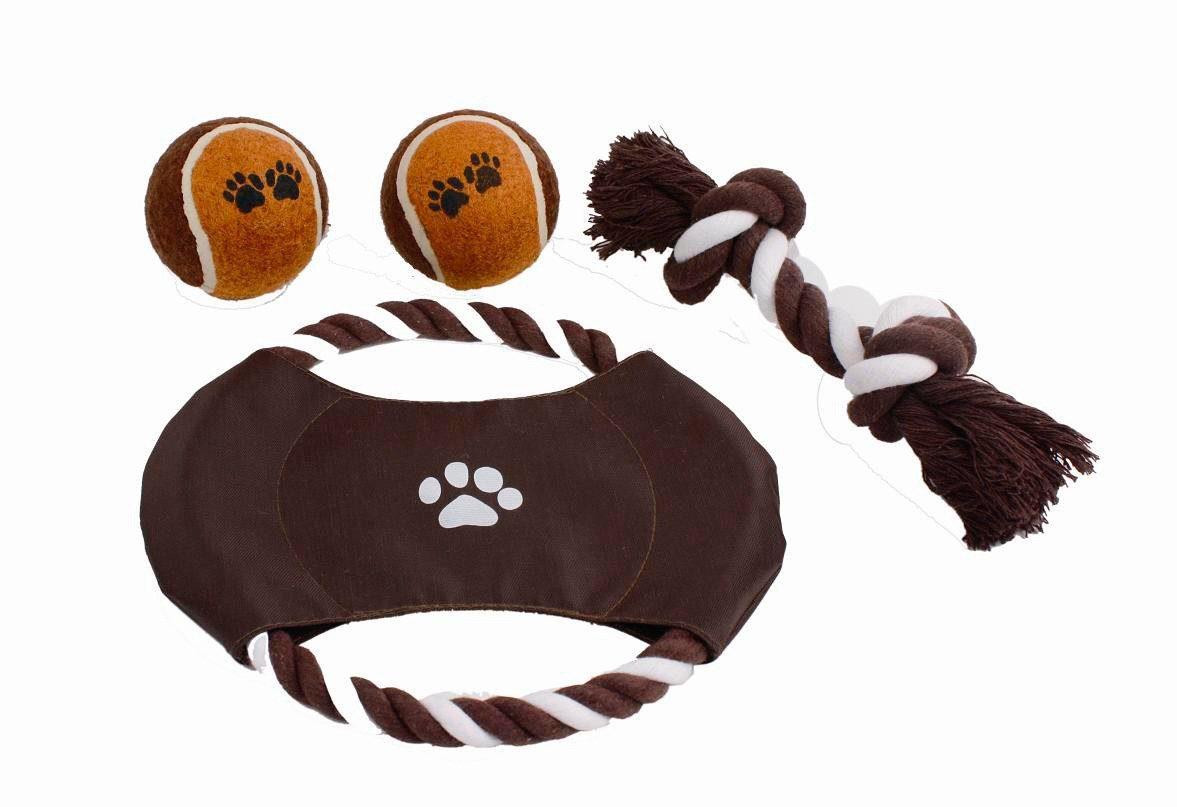 HEIM Set: Hunde-Spielzeug-Set »Outdoor«, Inkl. Wurfring, Spieltau und 2 Tennisbällen