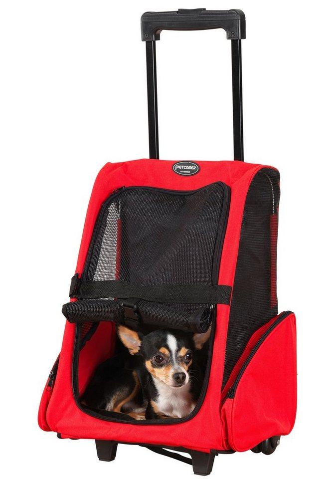 Hunde-Tragetasche »Hunde-Transport-Trolley« in rot, schwarz