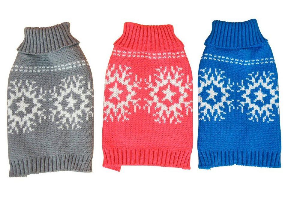 Hundepullover »Schneeflocke« in blau