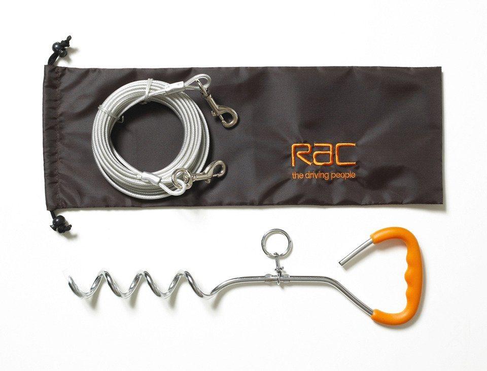 Hundeleine »RAC Anlegepflock und Hofleine« in silberfarben