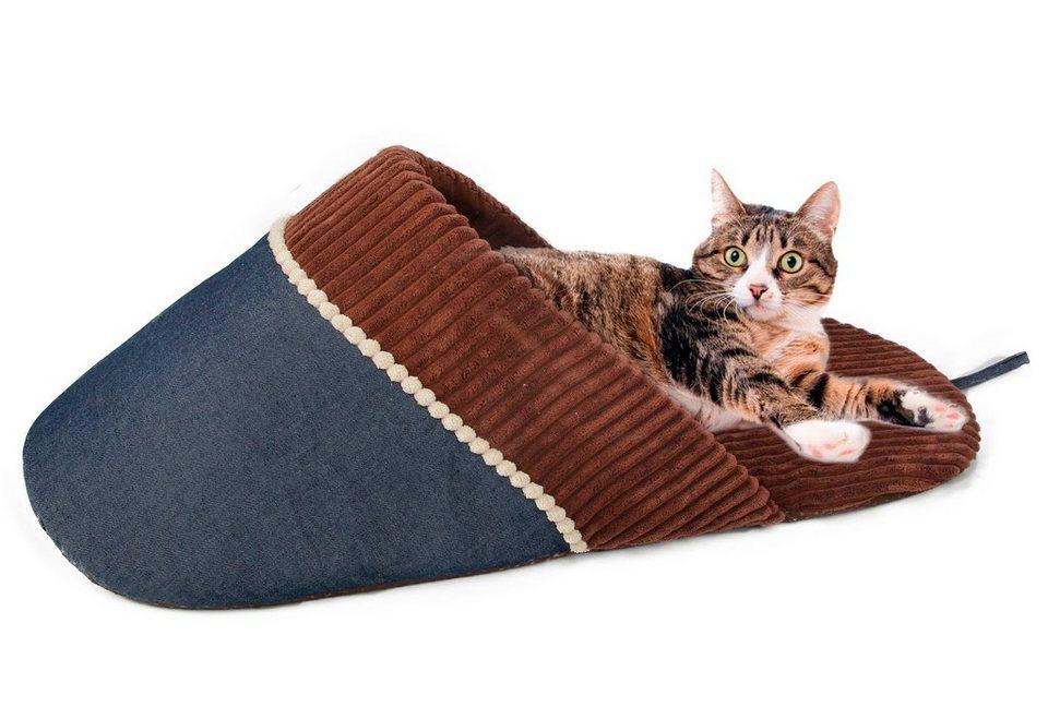 Katzen-Kuschelschuh »Jeanstrend« in braun/blau