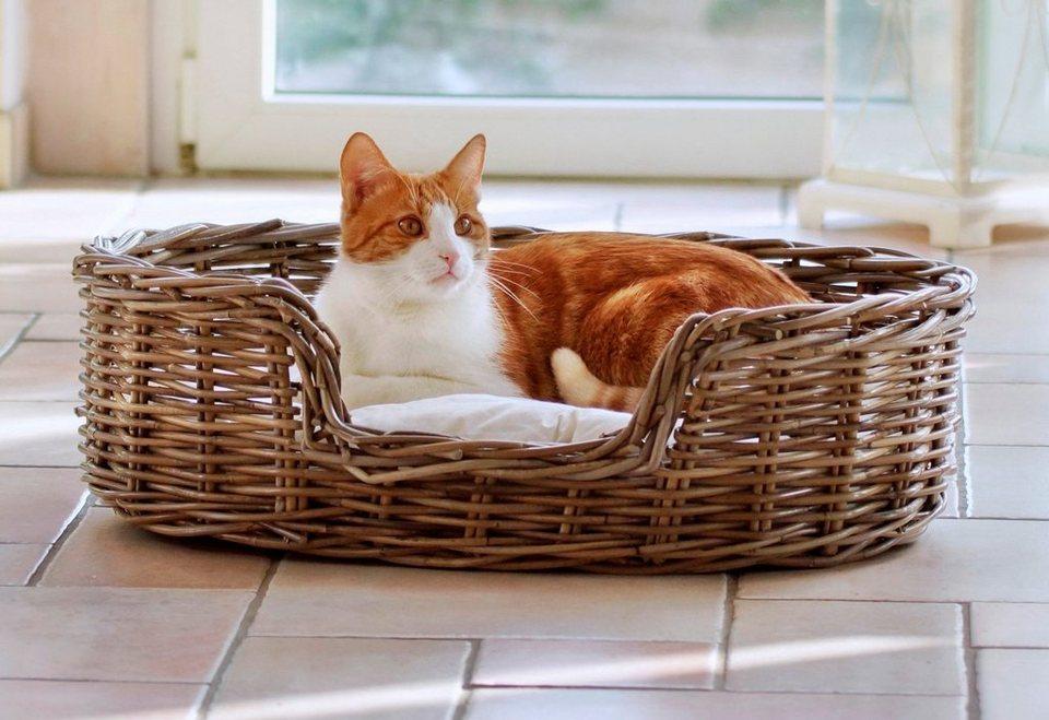 Hundebett und Katzenbett »Rattan« in braun