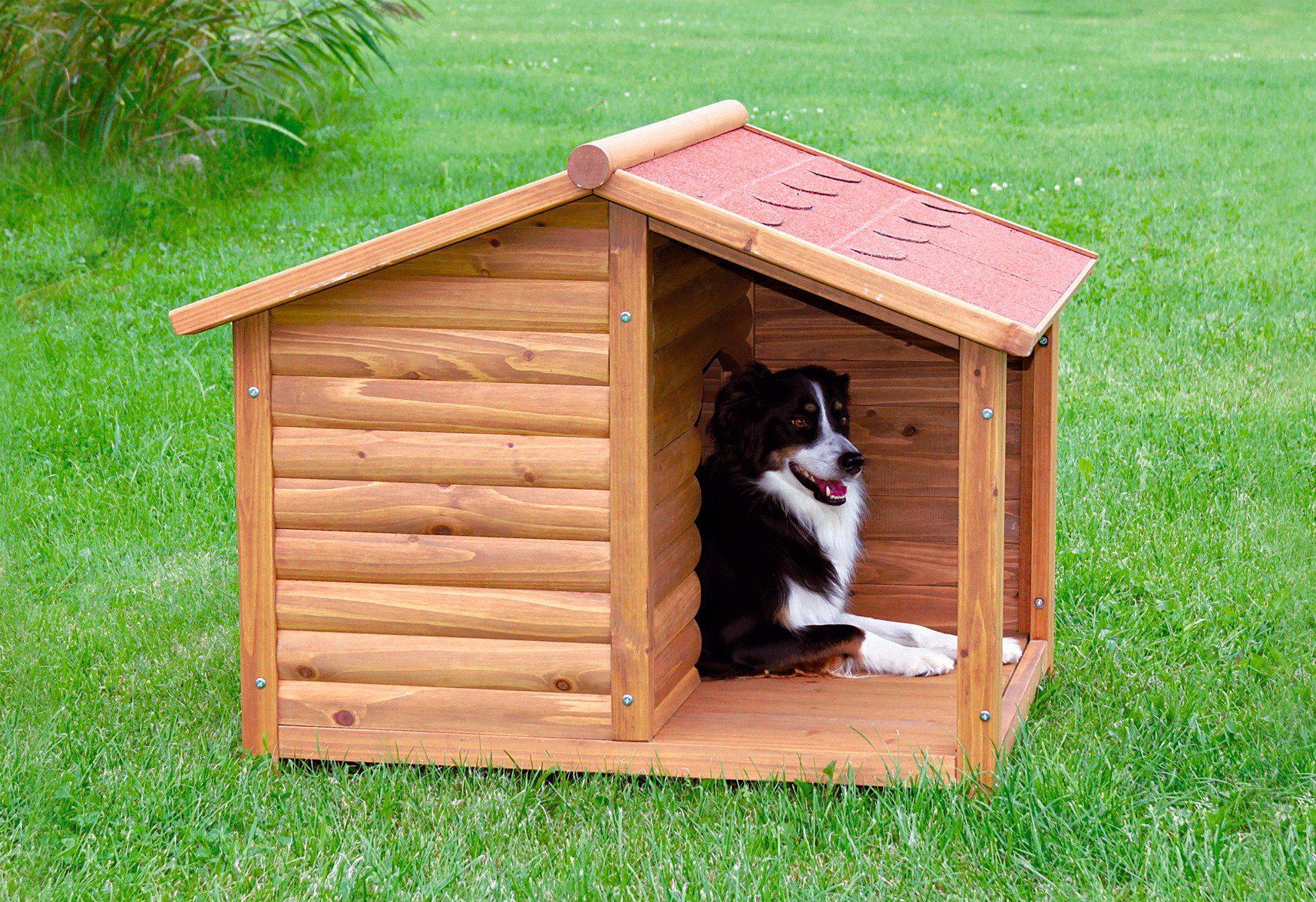 Trixie Hundehütte »Hundehütte mit überdachter Terrasse«