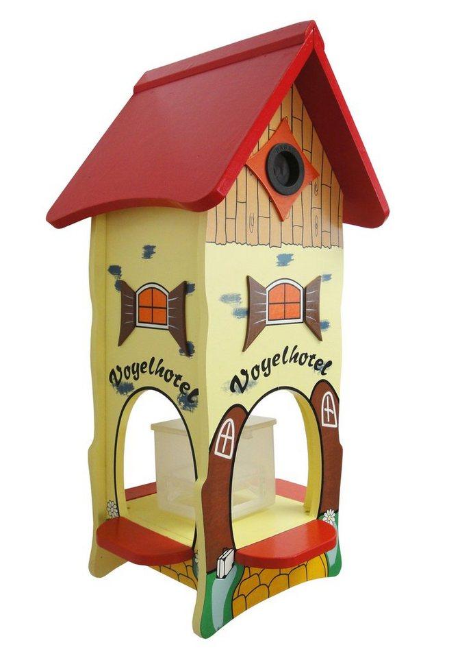 Futterhaus »Vogelhotel« in rot