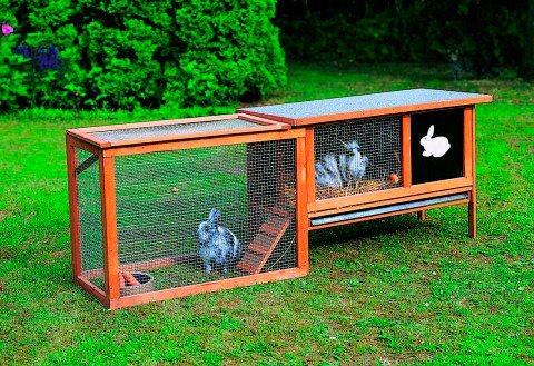 Promadino Auslaufgehege »für Hasenstall Rabbit« in braun
