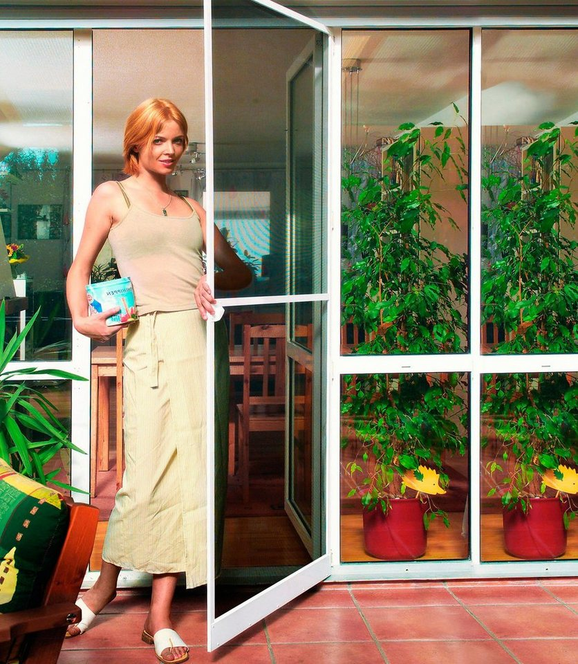 Komplett-Set: Insektenschutz-Tür »Plus« 100 x 210 cm, braun, individuell kürzbar