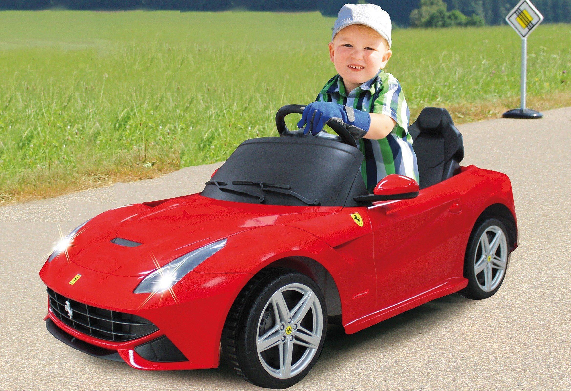 JAMARA KIDS Elektroauto »Ride-On Ferrari F12 Berlinetta«, rot, inkl. Fernsteuerung
