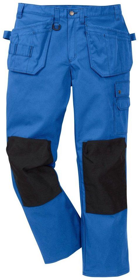 Funktions- Arbeitshose »Essential« in blau/dunkelblau