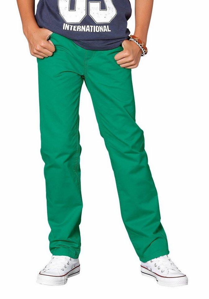 Arizona Stoffhose Regular-fit mit geradem Bein in grün