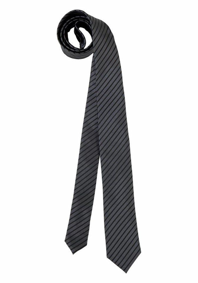 Bruno Banani Krawatte in grau-gestreift