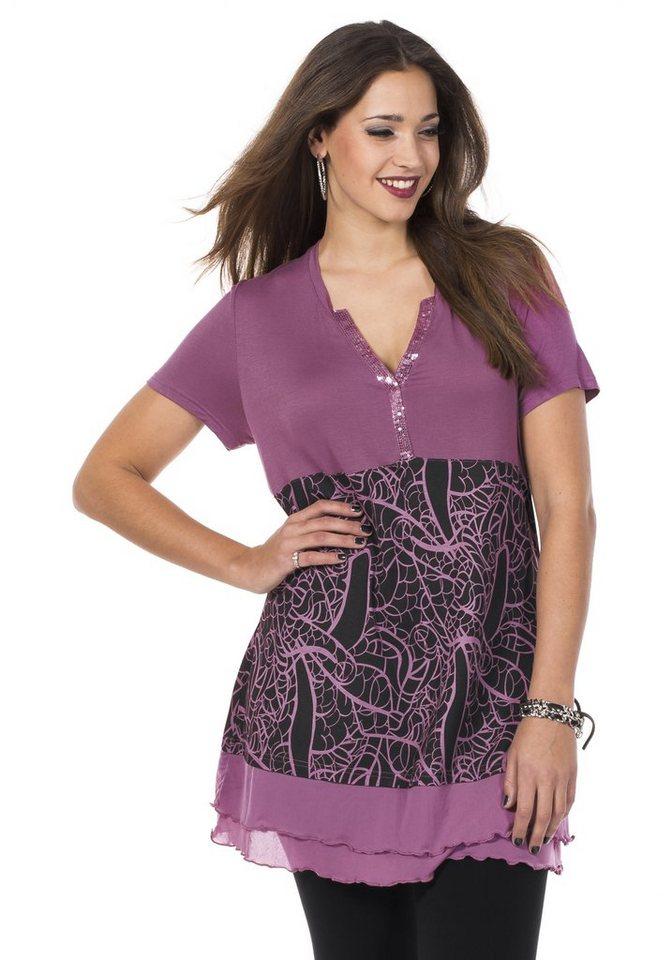 sheego Style Longshirt in purpur