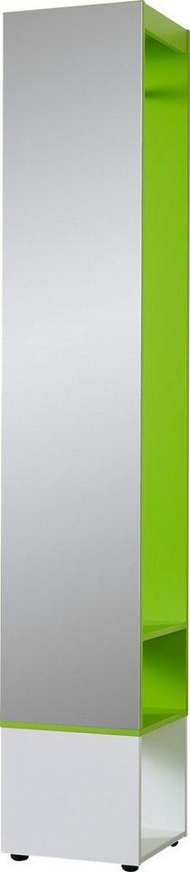 Garderobe in weiß/grün
