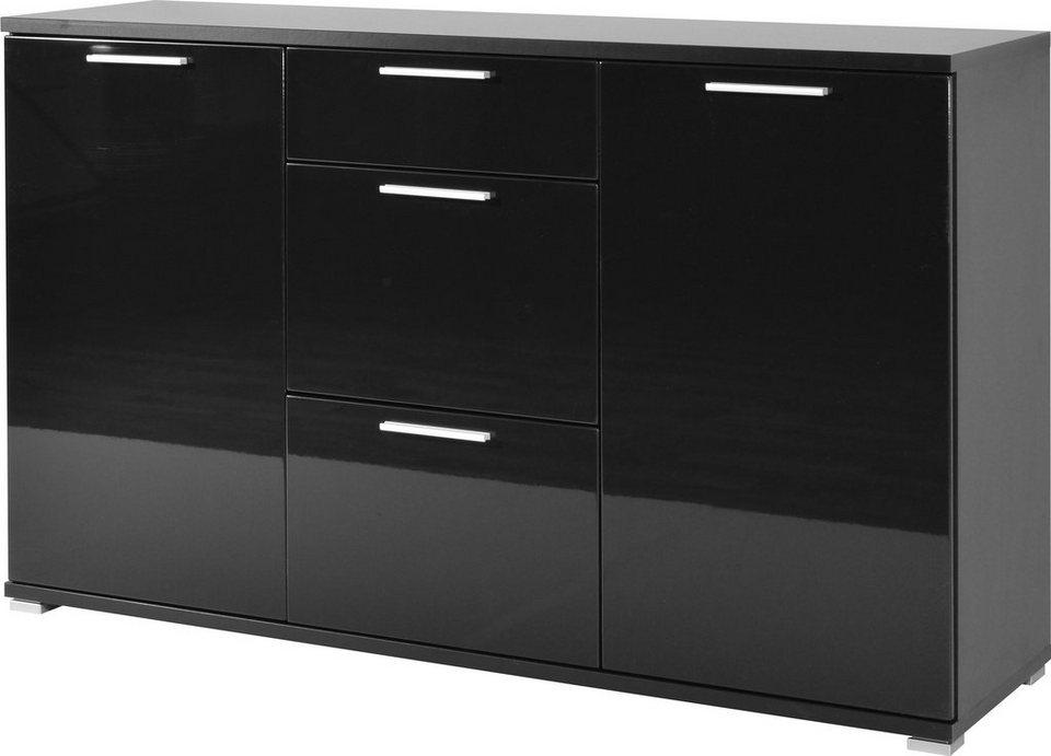Sideboard »Almeria« Breite 144 cm in schwarz