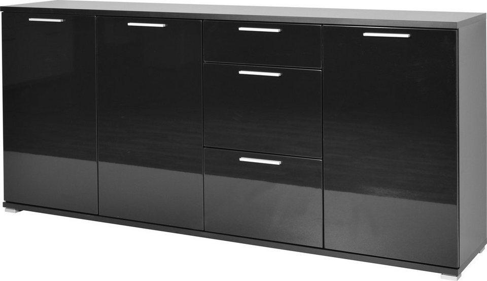Sideboard »Almeria« Breite 192 cm in schwarz