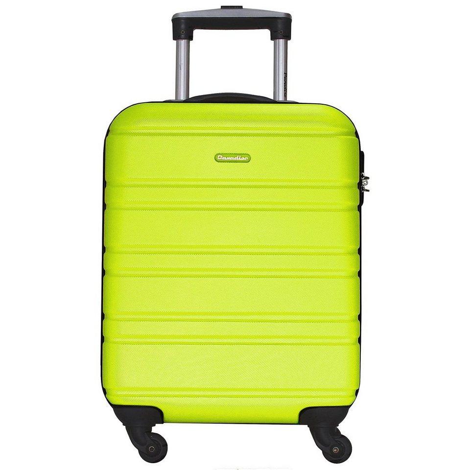 CHECK.IN Paradise Napoli 4-Rollen Trolley 55 cm in lemongreen