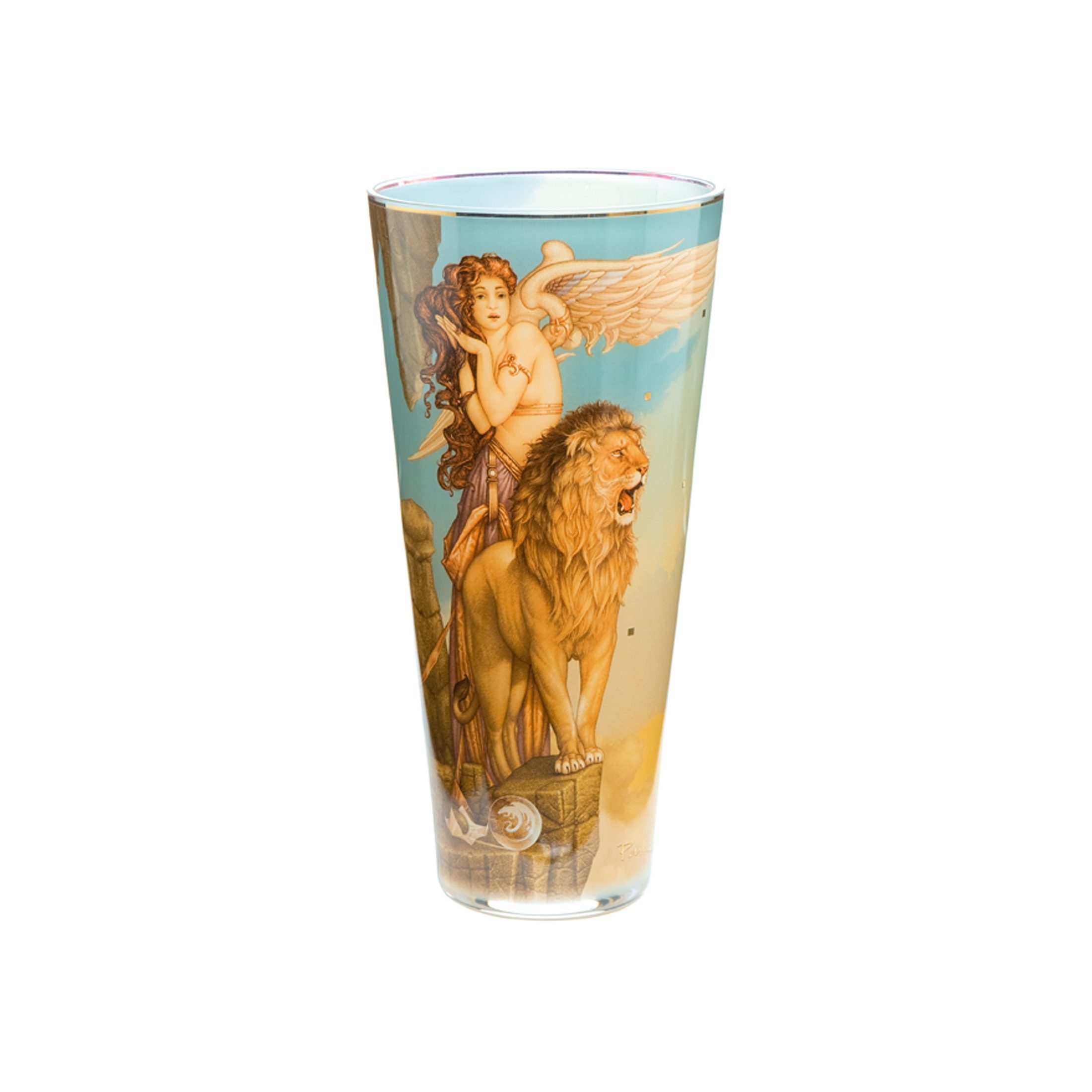 Goebel Lions Return Vase »Artis Orbis«