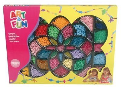Simba Art & Fun Perlen Geschenkset, 10.000 Perlen
