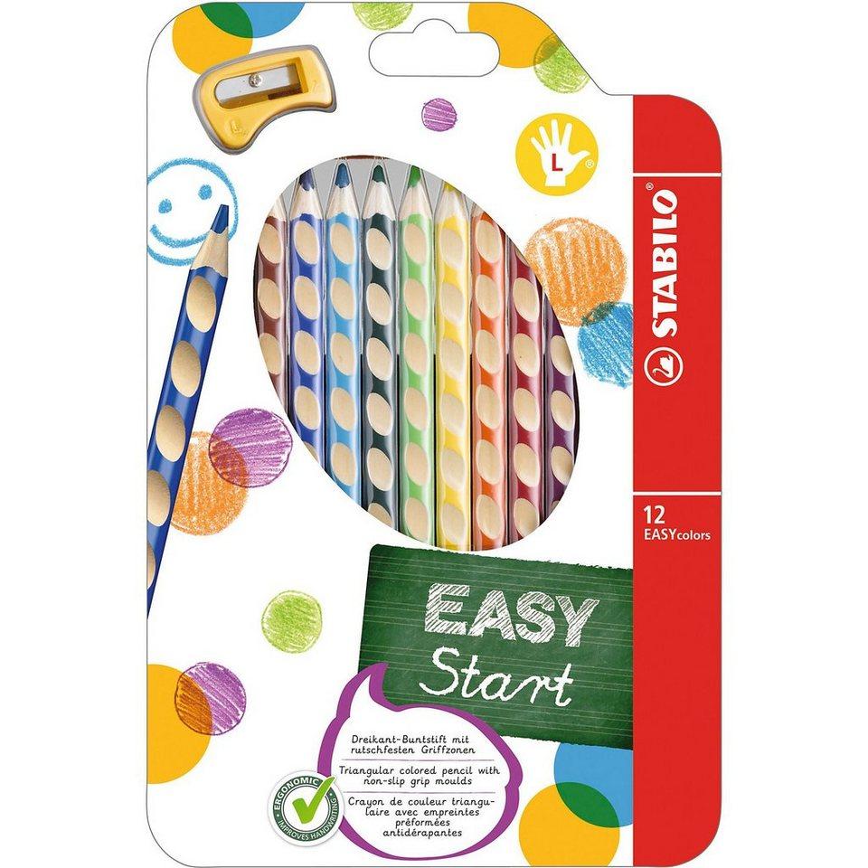 Stabilo Buntstift EASYcolors L, inkl. Spitzer, 12 Farben