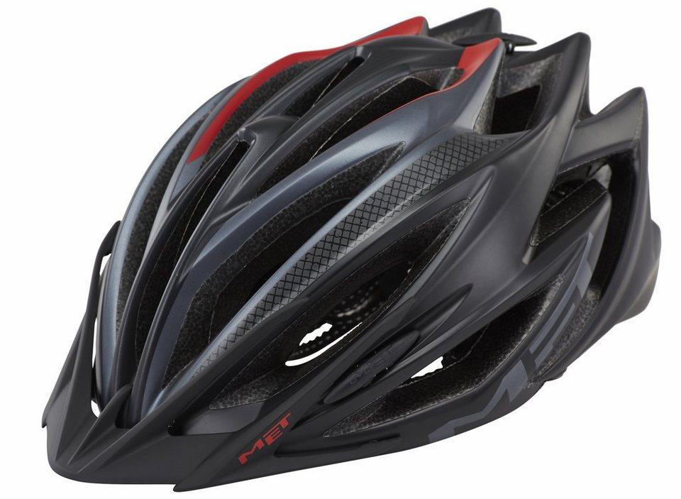 MET Fahrradhelm »Veleno Helm« in schwarz