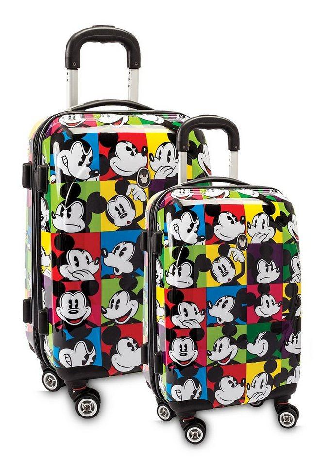 Fabrizio, Trolley-Set im Disney® Comic Style mit 4 Rollen, »Mickey Mouse«, (2tlg.)