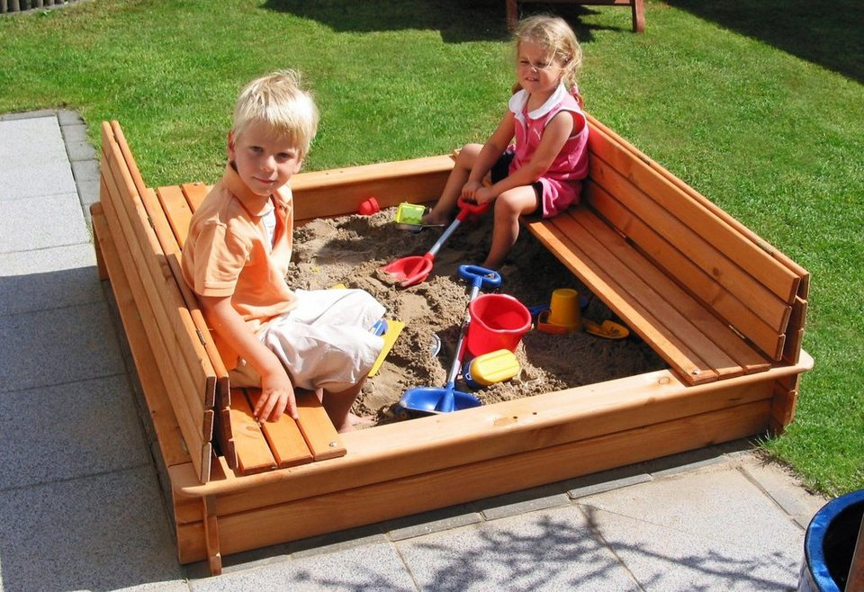 promadino sandkasten donald 100x100 cm kaufen otto. Black Bedroom Furniture Sets. Home Design Ideas