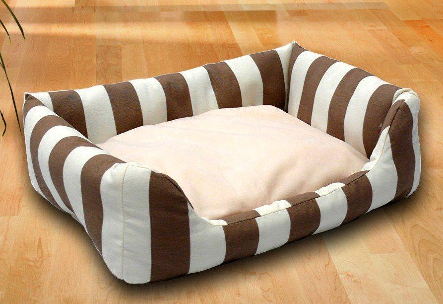 Hundebett und Katzenbett »Kuschelsofa« in braun/weiß