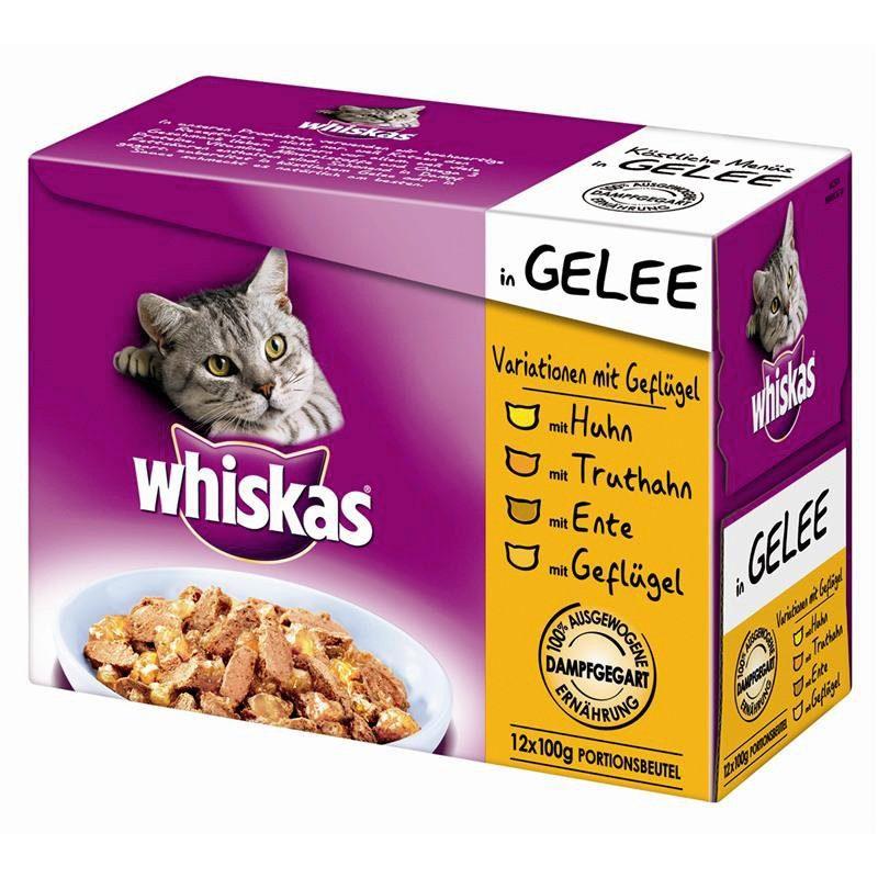 Set: Katzennassfutter »Variationen mit Geflügel«, 4 Pakete mit je 12 Beuteln á 100 g