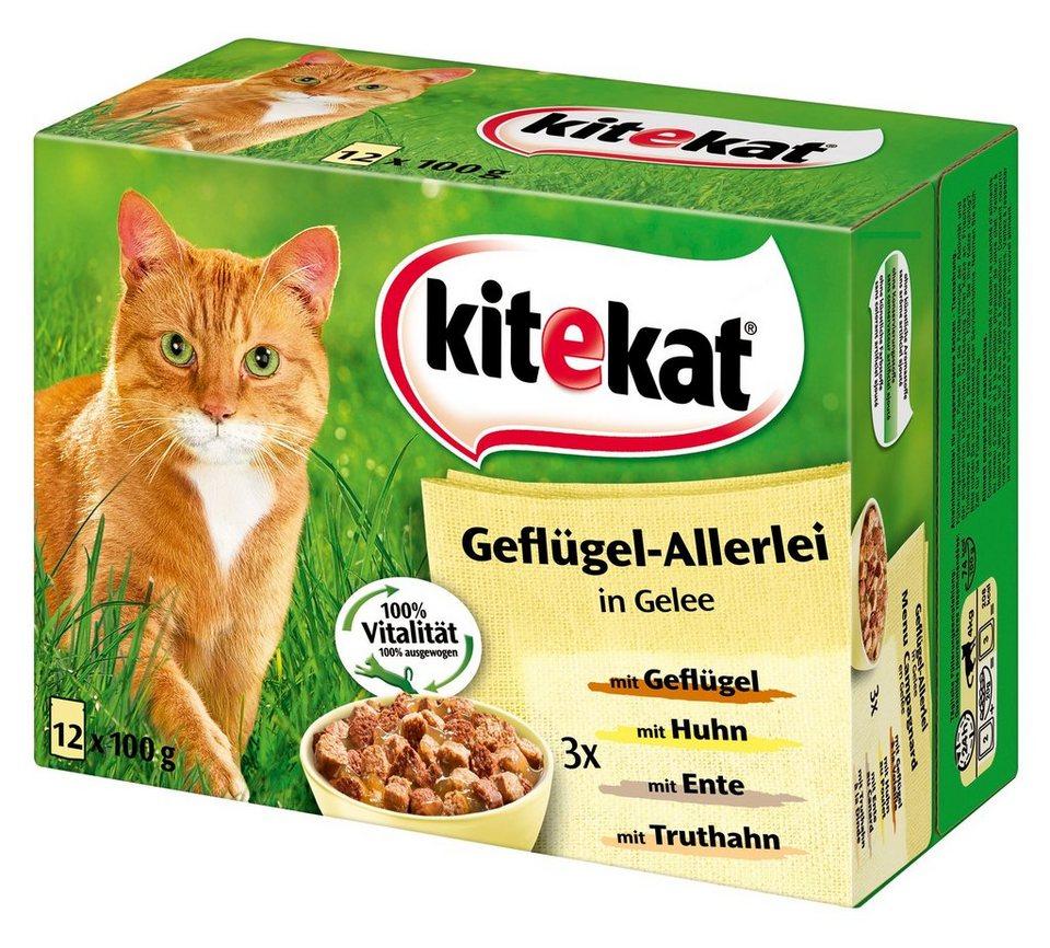 Set: Katzennassfutter »Geflügel-Allerlei«, 4 Pakete mit je 12 Beuteln á 100 g in braun