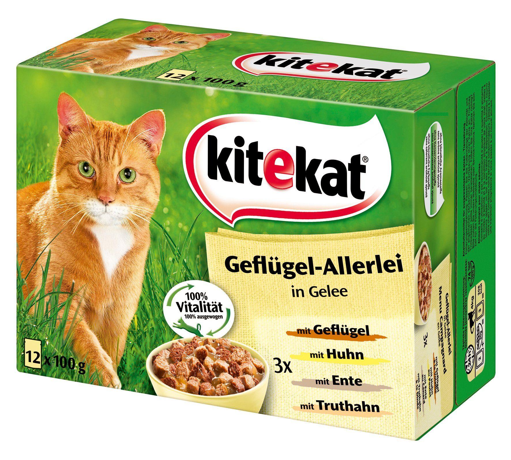 Set: Katzennassfutter »Geflügel-Allerlei«, 4 Pakete mit je 12 Beuteln á 100 g