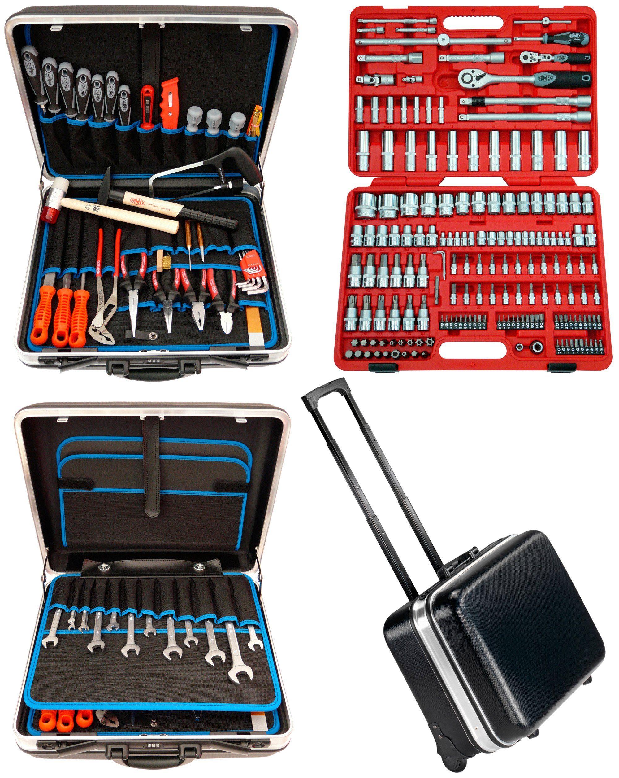 Famex Trolley ABS Werkzeugkoffer Set »Famex 606-09« mit 174tlg. Steckschlüsselsatz