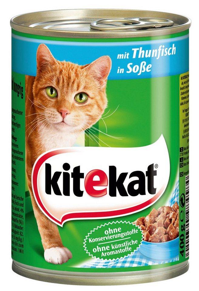 Set: Katzennassfutter »Thunfisch in Sauce«, 12 Dosen á 400 g in braun