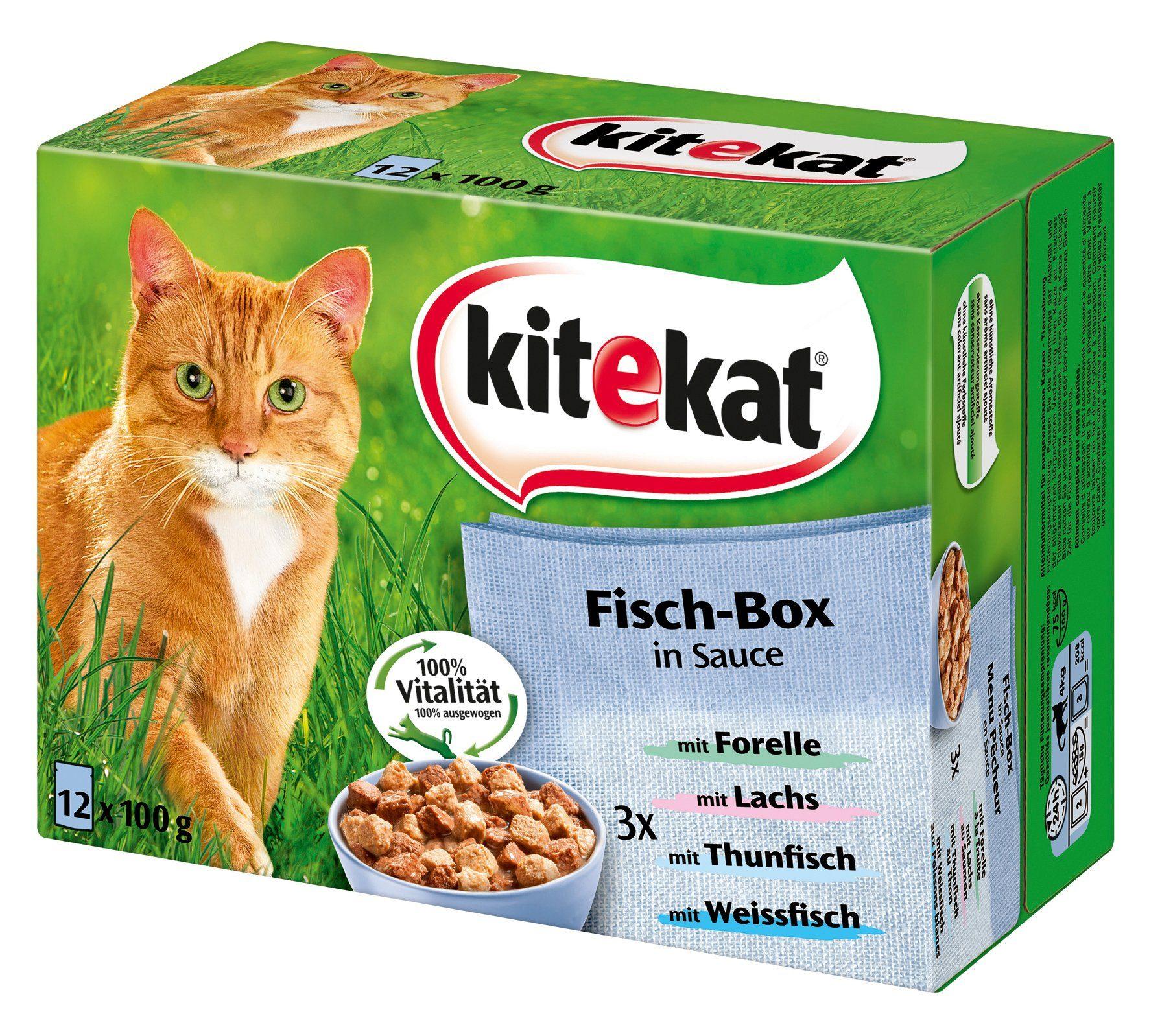 Set: Katzennassfutter »Fisch-Box in Sauce«, 4 Pakete mit je 12 Beuteln á 100 g