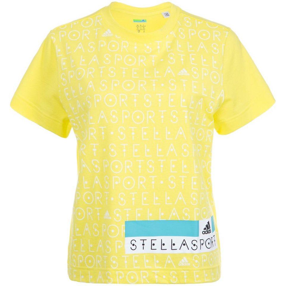 adidas Performance Stellasport Printed Trainingsshirt Damen in gelb