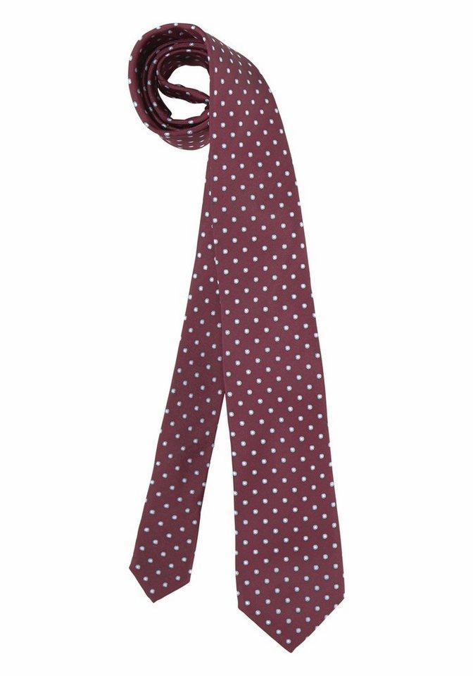 Class International Krawatte in bordeaux-gepunktet