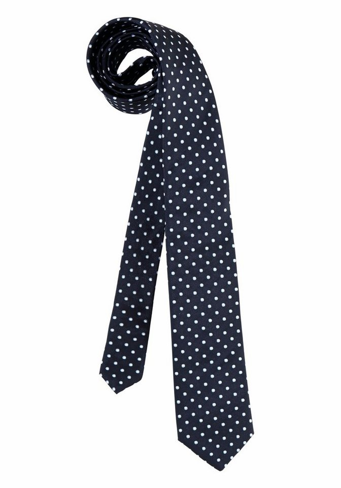 Class International Krawatte in blau-gepunktet