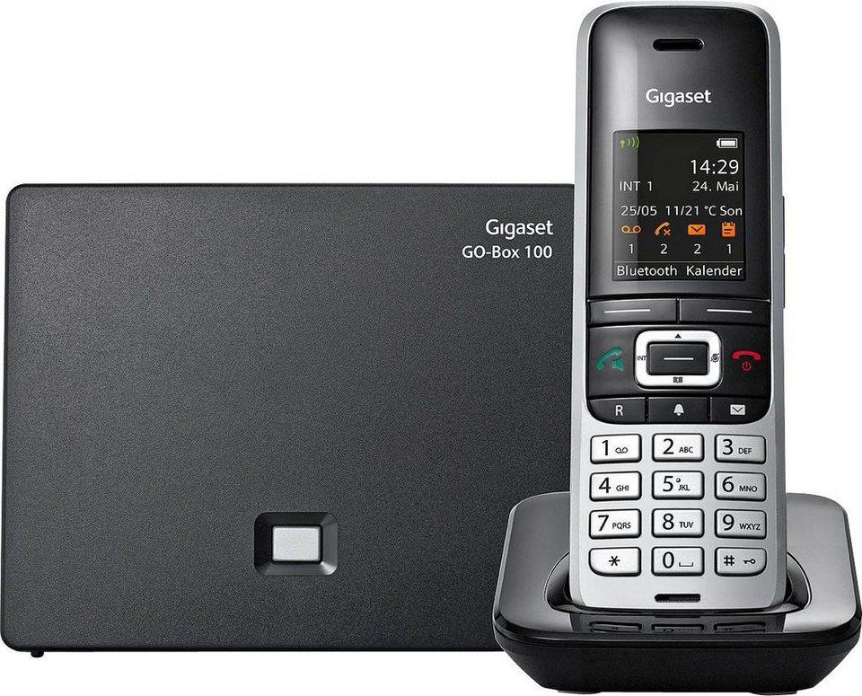 Gigaset S850 A GO Schnurloses DECT Telefon mit CAT-iq Technik und AB in grau