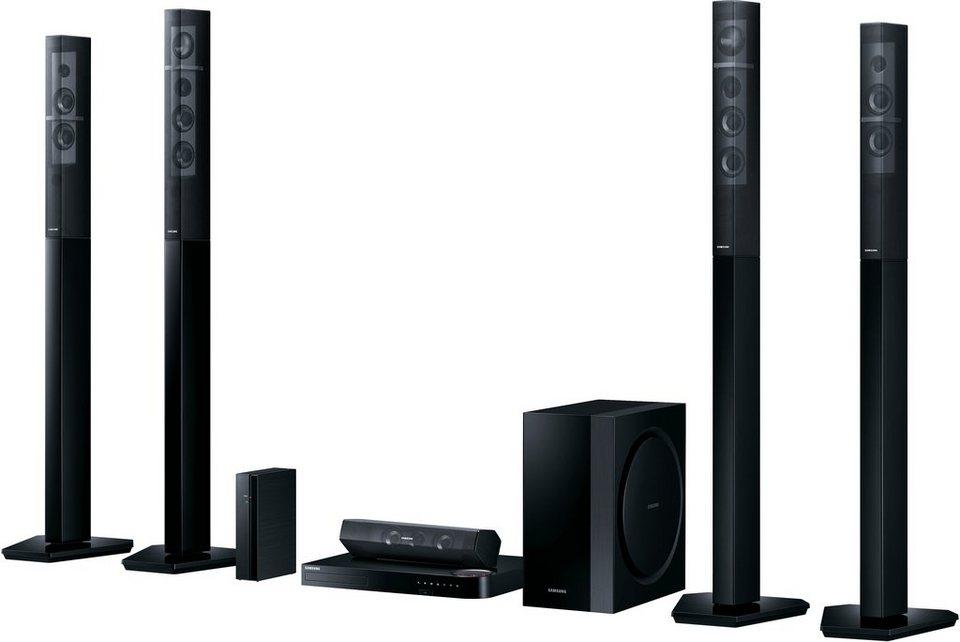 Samsung HT-J7750W/EN 7.1 Heimkinosystem, Multiroom, 3D Blu-ray Player, 1.330 W, 3D-fähig, WLAN in schwarz