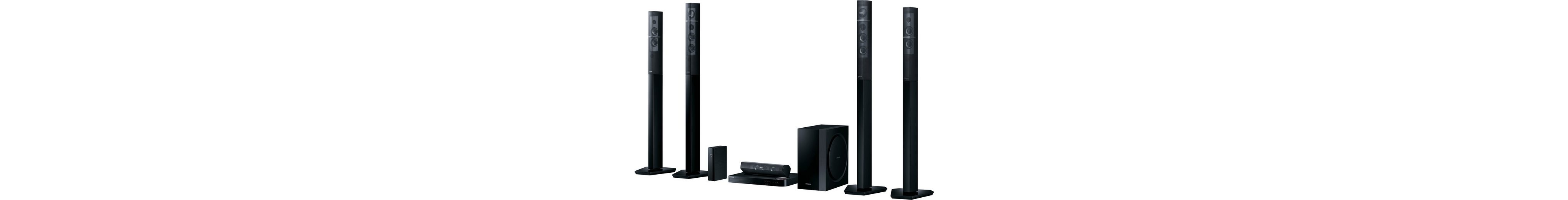 Samsung HT-J7750W/EN 7.1 Heimkinosystem, Multiroom, 3D Blu-ray Player, 1.330 W, 3D-fähig, WLAN