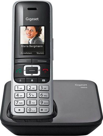 Gigaset »S850« Schnurloses DECT-Telefon (Mobilteile: 1, Bluetooth, Weckfunktion, Freisprechen, SMS)