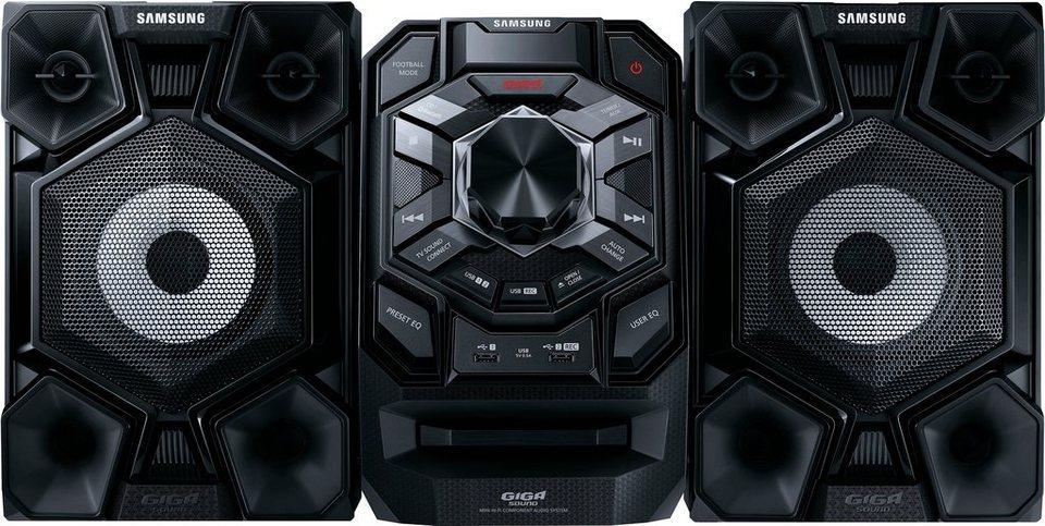 Samsung MX-J630 Kompaktanlage, Bluetooth, 2x USB in schwarz