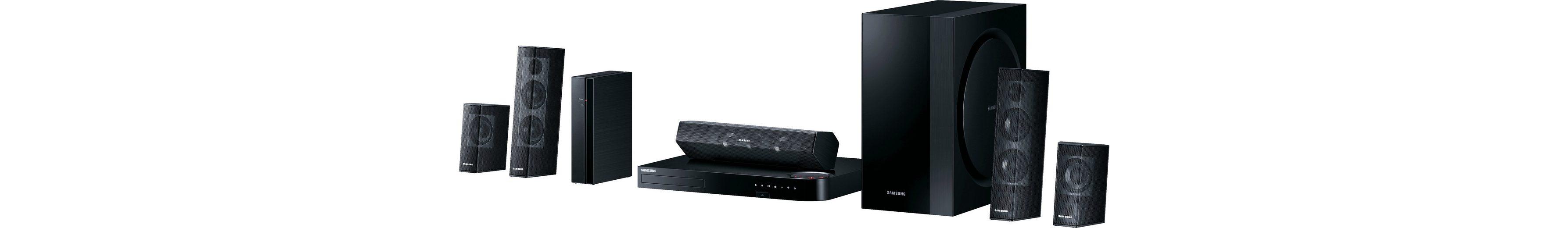 Samsung HT-J7500W/EN 5.1 Heimkinosystem, Multiroom, 3D Blu-ray Player, 1.000 W, 3D-fähig, WLAN