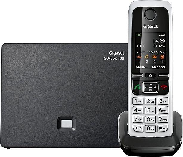 Gigaset C430 A GO Schnurloses DECT Telefon mit CAT-iq Technik und AB in schwarz