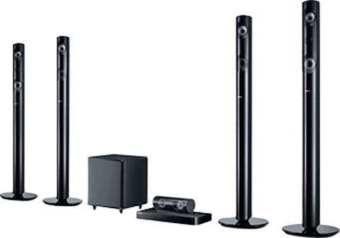 Samsung HT-J5550W/EN Heimkinosystem, 3D Blu-ray Player, 1.000 W, 3D-fähig, WLAN, Bluetooth in schwarz