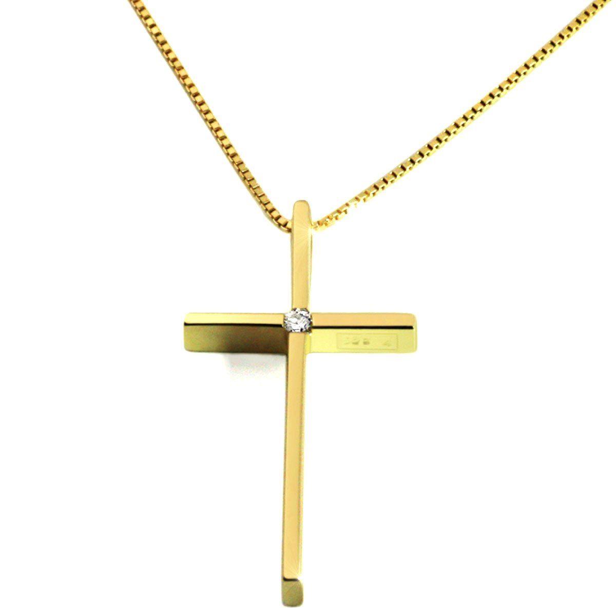 goldmaid Collier Gelbgold 585 Kreuz Anhänger