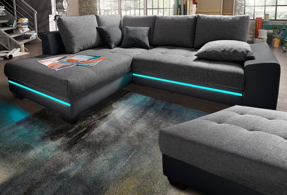 Great Polsterecke Mit Beleuchtung, Wahlweise Mit Bluetooth Soundsystem Amazing Ideas
