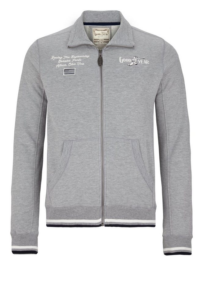Goodyear Sweatjacke »SOLON« in Marl Grey