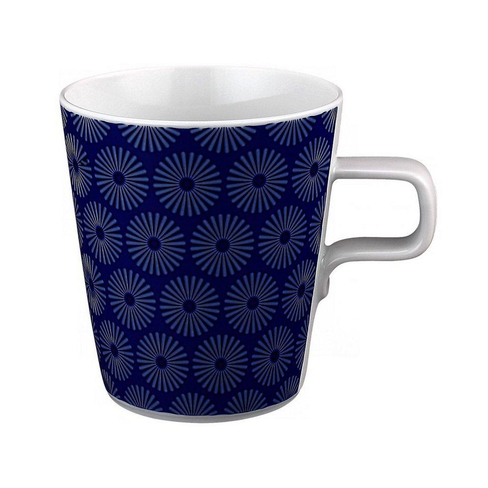 Seltmann Weiden Milchkaffeetasse »No Limits Blue-Motion« in Weiß, Blau