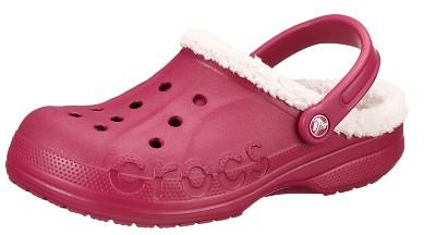 CROCS Baya Lined Clogs in weinrot