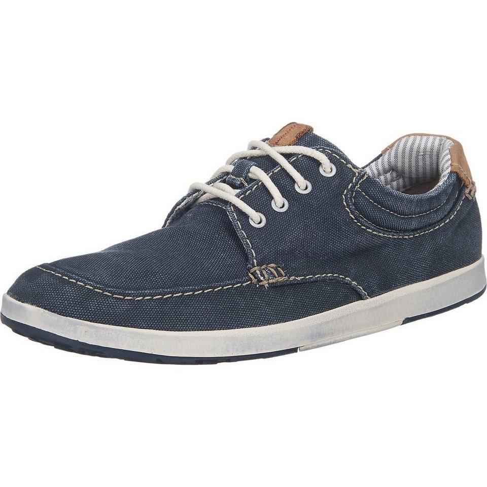 Clarks Norwin Vibe Freizeit Schuhe in blau-kombi