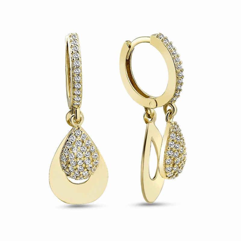 dKeniz Ohrhänger »925/- Sterling Silber vergoldet Eleganz Ohrring«